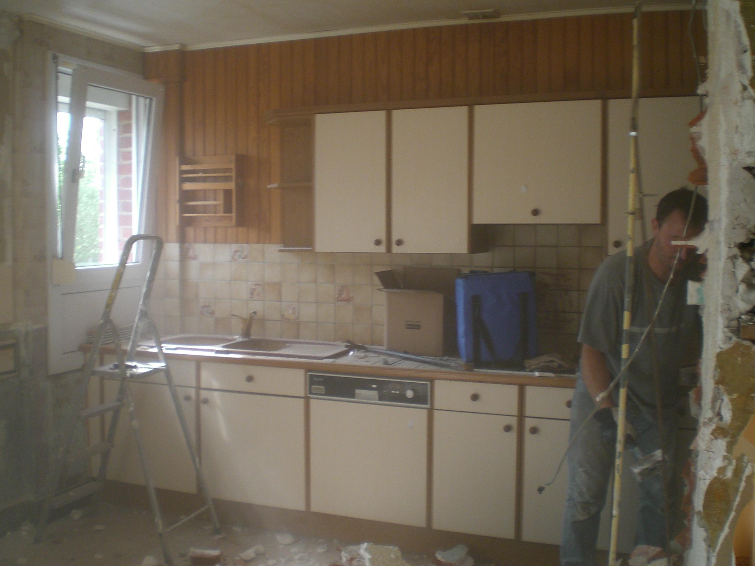 Cuisine repeinte en gris: deco cuisine repeinte. réaménagement d& ...